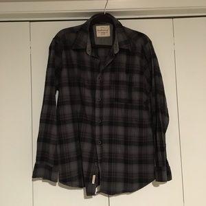 Large Grey Plaid Flannel